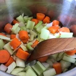 Add vegetables and cook until soft - about 5min.